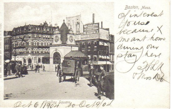 postcards of scollay square